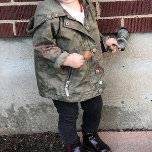 Zara toddler girls camp rose jacket
